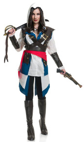 Assassin Cutthroat Pirate Ladies Costume (03083CHA)