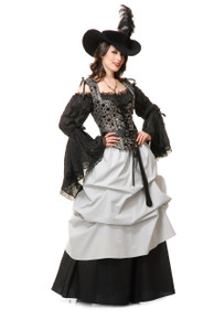 Pirate Black Blouse Renaissance Under Blouse