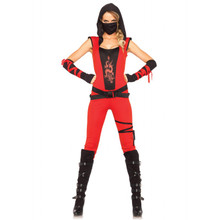 Ninja Assassin Women's Red Bodysuit (85384)
