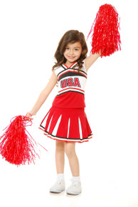 Cheerleader Girl's USA Top & Skirt