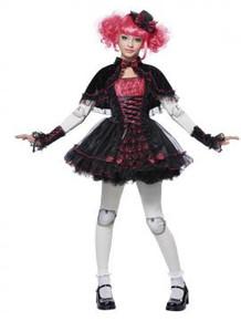 Victorian Doll  Girl's Dress w/ Glovelettes, Cape, Leggings & Hat