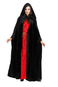 Adult Velvet Hooded Cloak Assorted Colors