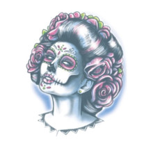 Day of the Dead Senora Muerte Temporary Tattoo Transfers FX