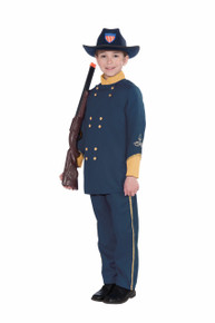 Union Officer Costume Kids Navy Blue Shirt & Pants