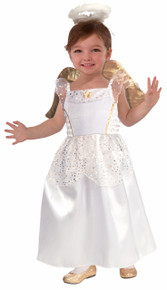 Angel Costume Kids White with Gold Stars