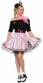 /poodle-skirt-pink-with-black-polka-dots/