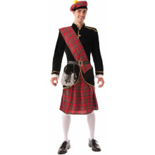 Scotsman Adult Costume Fits Up to 42in Chest