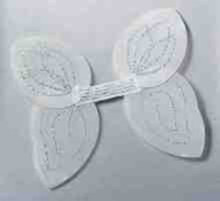 Angel Wings White Nylon with Silver Glitter