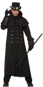 Warlock Coat Witches & Wizards Black Trench Coat