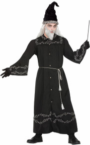 Wizard Robe Black with Silver Stars Witches Wizards