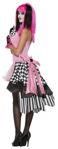 /harlequin-clown-bustle-black-and-white-checkered-with-pink/