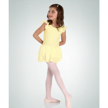 Girl's Microfiber Flutter Sleeve Leotard