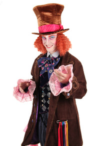 /young-mad-hatter-hat-brown-with-pink-bow/