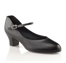 "Jr Footlight Black Character Shoe 1.5"" Heel"