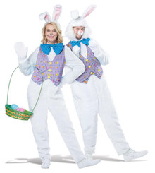 Easter Bunny 6 pc. Adult Costume with Open Face