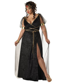 Medusa Dress & Headband Plus Size Costume