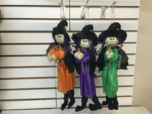 "20"" Witch with Broom Hanging Decor"