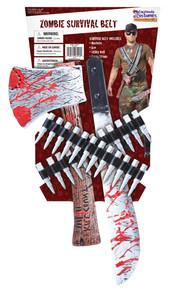 Zombie Hunter Kit Machete Hand Axe Bullets