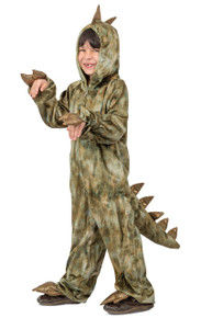 T-Rex Jumpsuit with Attached Hood Child's Costume (PP4631)