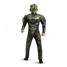 HALO Master Chief Deluxe Muscle Suit Adult Costume