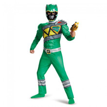 Power Rangers Dino Charge Kids Green Ranger Muscle Suit Licensed