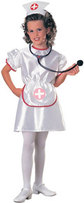 Nurse Girl's Satin Costume