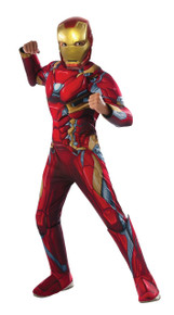 Kids Deluxe Muscle Chest Iron Man Civil War Marvel Costume