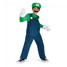 Super Mario Brothers Luigi Licensed Deluxe Kids Costume (67822DIS)