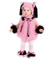 Infant Pinkie Poodle Cute Plush Onesie (PP4422)