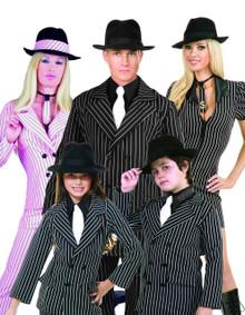 Black Wool Gangster Hat