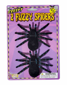 Fuzzy Spiders 2 with assorted color Glitter