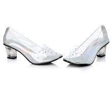 Anastasia Clear & Silver Slipper Shoe