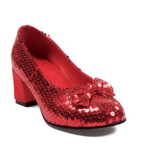 "Judy 2"" Heel Red Sequined Shoe"