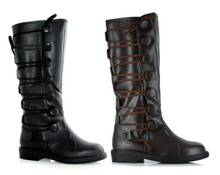 """Ren Men's Velcro Side Pirate Boots 1"""" Heel"""