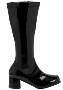 "Dora Girl's Gogo Boots w/ 1.75"" Heel - Black"