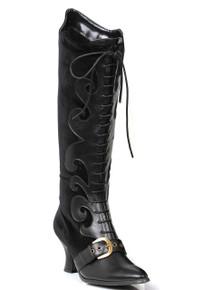 "Fain Velvet Lace Up Boots w/ 2.5"" Heel"