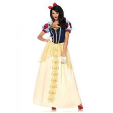 Snow White Deluxe Long Women's Dress & Hair Bow