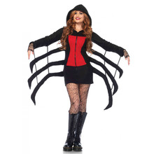 Cozy Black Widow Women's Hooded Spider Robe