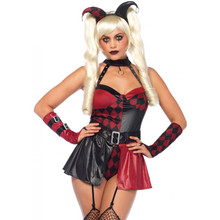 Deviant Darling Red & Black Jester (85548)