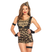 Booty Camp Cutie Women's Sexy Military Romper (85425)