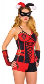 Harley Quinn Deluxe Corset Licensed DC Comics