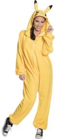 Pikachu Hooded Jumpsuit Adult Licensed Pokemon Pajama Style