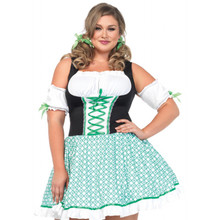 Clover O'Cutie Full Figure Irish Dress & Hairbows