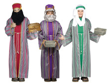 Three Wise Men (3) Assorted Costumes Which Include Caftan with Attatched Belt and Headpiece