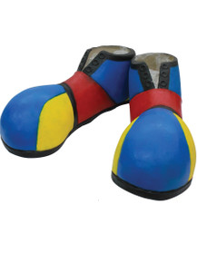 /clown-shoe-covers-latex-blue-red-yellow/