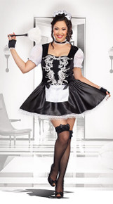 Women's Plus Size French Kisses Maid Costume