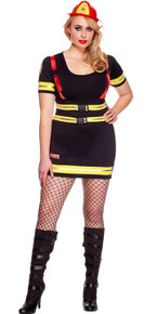 Fire Hazard Honey Women's Plus Size Firefighter Costume