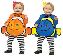 Fuzzy Giddy Goldfish with Cute Fish Fins Infant/Toddler Costume
