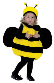 Fuzzy Lil' Bumble Bee with Bee Hat and Wings Fits Up To 24 Months