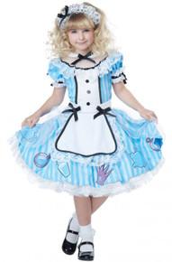Deluxe Alice In Wonderland Childs Costume
